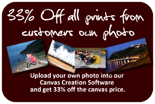 get 33% off custom canvas prints