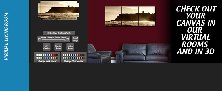 Our Photo onto Canvas preview software