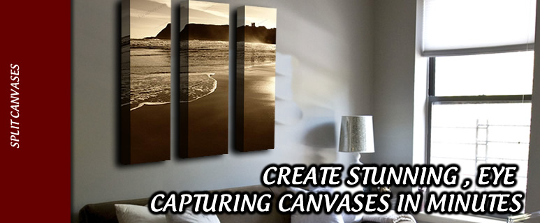 Split Canvases create a stunning effect for any wall
