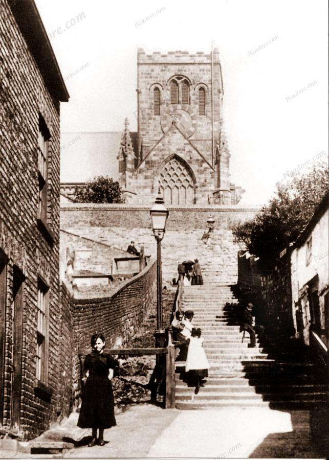 All The Girls Standing In The Line For The Bathroom: Beautiful Old Photograph Of St. Marys Church, Scarborough