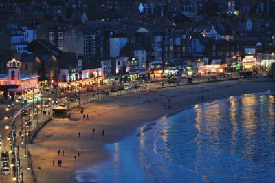 Scarborough at night