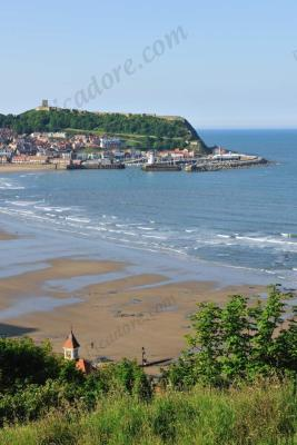 Scarborough southbay , castle and harbour